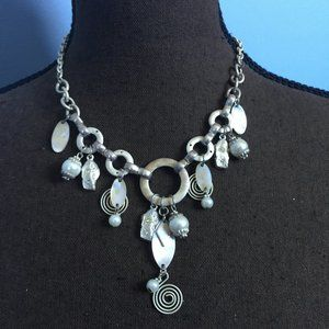 Boho Faux Pearl Statement Necklace
